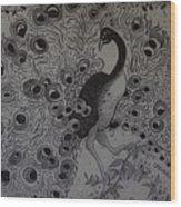 Fantasy Peacock Wood Print