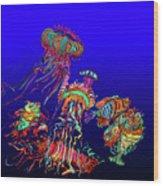 Fantasy Sea Life1 Wood Print