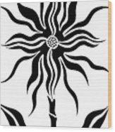 Fantasy Star Flower  Wood Print