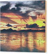 Fantasy Sunset Wood Print