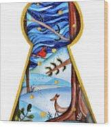 Fantasy Through The Keylock Wood Print