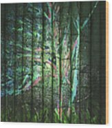 Fantasy Tree On Bamboo Wood Print