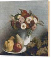 Fantin-latour: Fruits, 1865 Wood Print