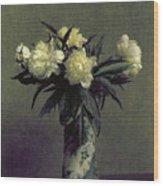 Fantin-latour: Peonies, 1872 Wood Print by Granger