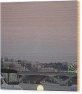 Far Away Ferris Wheel Wood Print