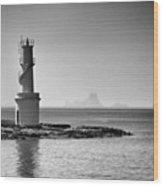 Far De La Savina Lighthouse, Formentera Wood Print
