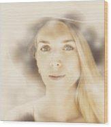 Faraway Fashion Female Wood Print