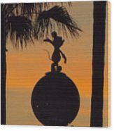 Farewell Mickey Wood Print