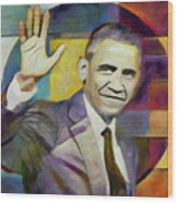 Farewell Obama Wood Print