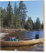 Farewell To Hope Lake Wood Print