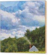 Farm - Barn - Home On The Range II  Wood Print