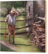 Farm - Farmer - Chores Wood Print