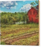 Farm - Farmer - Farm Work  Wood Print