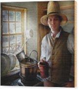 Farm - Farmer - The Farmer Wood Print