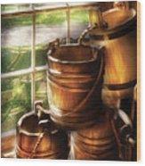 Farm - Pail - A Pile Of Pails Wood Print
