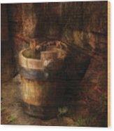 Farm - Pail - An Old Pail Wood Print
