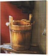 Farm - Pail - Water Pail And Ladel Wood Print