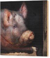 Farm - Pig - Piggy Number Two Wood Print