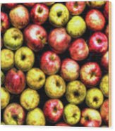 Farm Apples Wood Print