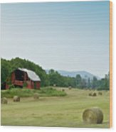 Farm Barn Listing Wood Print
