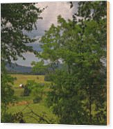 Farm Before The Storm Wood Print