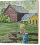 Farm Boy Wood Print