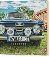 Farm Car - Alpha Gt Wood Print