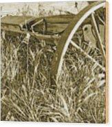 Farm Equipment At Rest Wood Print