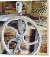 Farm Equipment Corn Sheller Wood Print