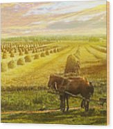 Farm - Finland - Field Of Hope 1899 Wood Print