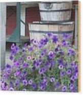 Farm Flowers Wood Print