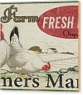 Farm Fresh Eggs-c Wood Print