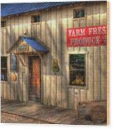 Farm Fresh Produce Wood Print by Mel Steinhauer
