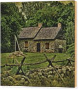 Farm House Wood Print