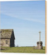 Farm House, Mendoncino, California Wood Print by Paul Edmondson