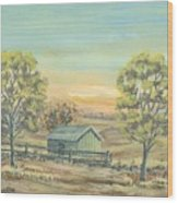 Farm In The Dell Wood Print