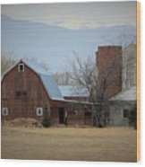 Farm In The Foothills Wood Print