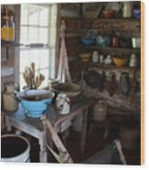 Farm Kitchen Wood Print
