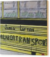 Farm Labor Bus Wood Print