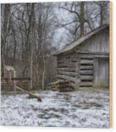 Farm Life From The Past Wood Print by Steve Hurt