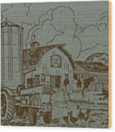 Farm Life-jp3236 Wood Print