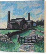 Farm Near Hexham. Wood Print