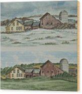 Farm Of Seasons Wood Print