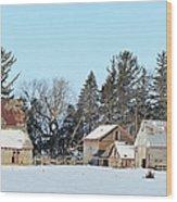 Farm On Echo Avenue Wood Print