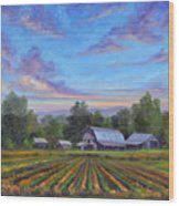 Farm On Glenn Bridge Wood Print