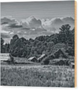 Farm On The Blue Ridge Wood Print