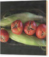 Farm Produce Wood Print