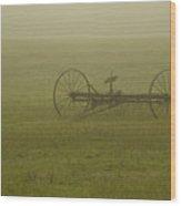 Farm Rake Wood Print