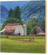 Farm, Randall, Wa Wood Print