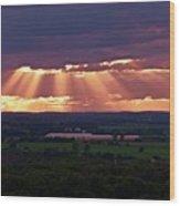 Farm Rays Wood Print